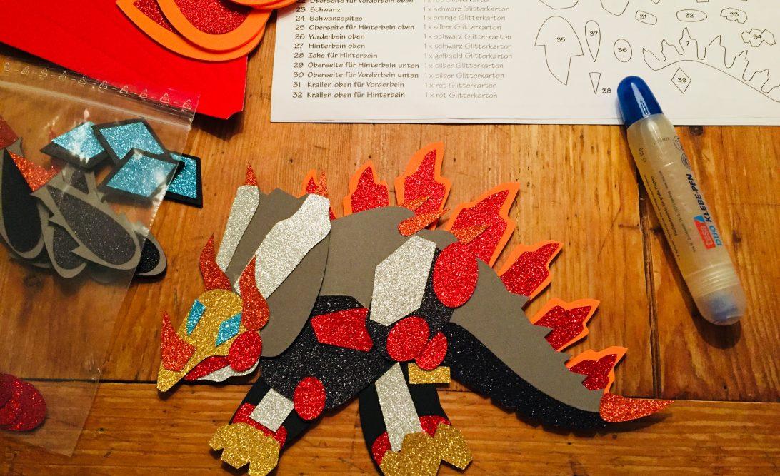 Dino für Schultüte basteln
